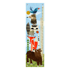 """""""Woodland Animals Stack"""" Growth Chart Canvas Art by Brian Love"""