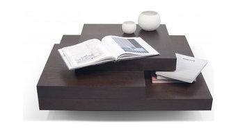TemaHome SLATE CHOCOLAT table basse design en chêne teinté chocolat
