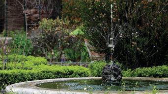 Vasca centrale giardino all'italiana.