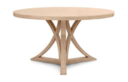 Floyd Round Dining Table, Cashew