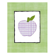 Patchwork Apple, Ready To Hang Canvas Kid s Wall Decor, 8 X 10