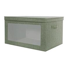 lifewit lifewit foldable storage box with large vision window clothes bin basket durable storage - Large Storage Bins