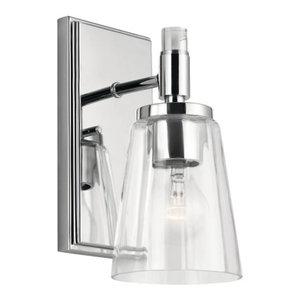 "Kichler 45866 Audrea Single Light 4-3/4"" Bathroom Sconce, Chrome"