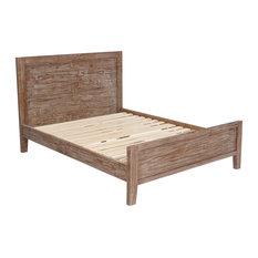 Mantua Mfg. Co. - Alvesta, Solid Wood Platform Bed, Pine Cone, Full - Panel Beds