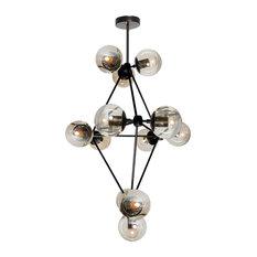 Galileo 12-Light Chandelier, Matte Black
