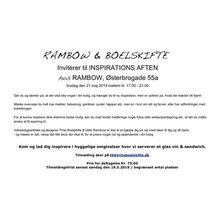 Invitation til Inspirationsaften tirsdag den 23.5