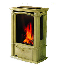 Napoleon Gas Stove Summer Castlemore Free Standing Fireplace, Moss