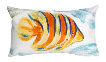 "Visions II Angel Fish Pearl Pillow, Orange, 12""x20"""