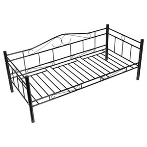 vidaXL Single Day Bed, Metal, Black