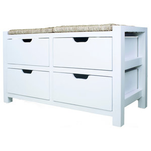 Vale Seagr Top Storage Bench With 4 Drawers