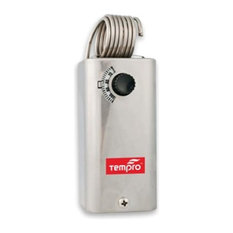 Tempro TP502 Line Voltage 30 to 110 Degree F Fixed Bulb Steel Housing SPST