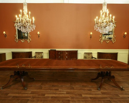 Extra Large And Long Mahogany Dining Room Table With 3 Leaves (LH 5)   Part 70