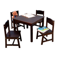 kidkraft farmhouse table u0026 4 chairs espresso by kidkraft kids tables and chairs