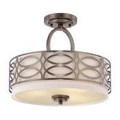 Nuvo Lighting 60/4729 Harlow 3 Light Semi-Flush Ceiling Fixture