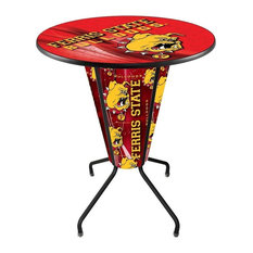 Lighted Ferris State Pub Table by Holland Bar Stool Company