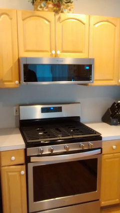 Microwave Above Gas Stove