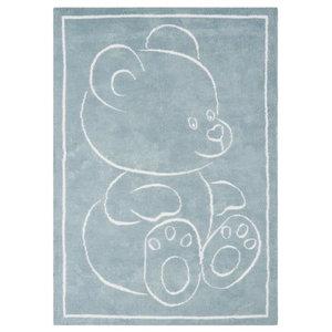 Teddy Rug, Blue, 120x170 cm
