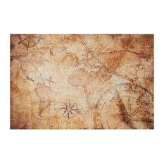 Antique Map Rug, 110x170 cm