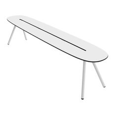 Small A-Lowha Bench, White, White Frame