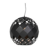 Art Deco Pendant Lamp Black - Tourmaline