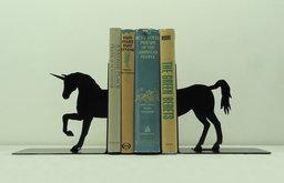 Unicorn Metal Art Bookends by Knob Creek Metal Arts