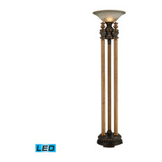 "72"" Athena LED Torchiere, Athena Bronze"
