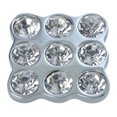 Utopia Alley Gleam 9 Crystal Cabinet Knob, Polished Chrome, 1.5""