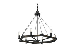 Blacksmith Iron 6-Light Black Smith Metal/Resin Chandelier