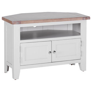 Corner TV Unit, Light Grey