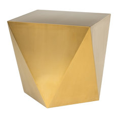 Nuevo - Penta Stainless Steel Side Table, Brushed Gold - Side Tables and End Tables