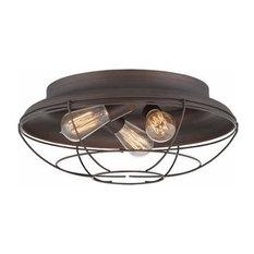 Millennium Lighting 5387 Neo-Industrial 3 Light Flush Mount Ceiling Fixture
