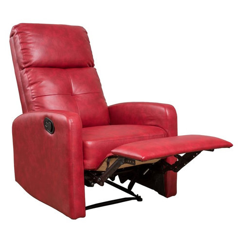 Teyana Red Leather Recliner Club Chair By GDFStudio