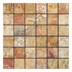Scabos Mosaic, 2x2, Polished Mosaic Tiles, 10 Sqft