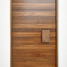 Bronze Handle and Hardwood Doors