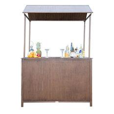 Panama Jack Tiki Bar with Canopy, Hand Brushed Antique