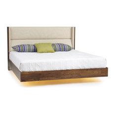 Sloane Floating Platform Bed by Copeland, Queen, Led Lights