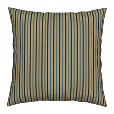 Brown Blue Stripes Beige Dots Abstract Throw Pillow Velvet