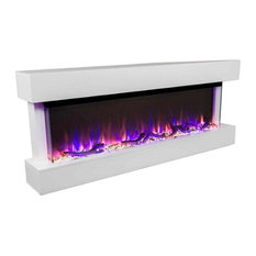 "Touchstone Chesmont 50"" Wall Mounted 3-Sided Electric Fireplace, White"