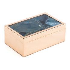 Zuo Decor Steel Box, Blue