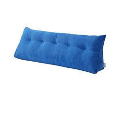 Bed Wedge Pillow Back Rest Support, Royal Blue, 59x20x8