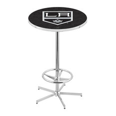L216 - 42-inch Chrome Los Angeles Kings Pub Table by Holland Bar Stool Co. by Holland Bar Stool Company