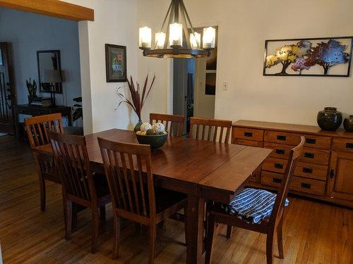 Dining Room Light Fixture Off Center