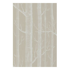 Woods Wallpaper, White/Taupe