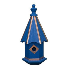 Bluebird Birdhouse, Vibrant Colors With Copper Trim Usa Handcrafted, Blue