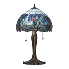 Dragonfly 60 W Table Lamp, Blue, Small