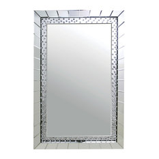 Acme Nysa Accent Wall Mirror, Mirrored