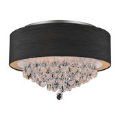 18-in. Dash Indoor Flush Mount With Black Shade