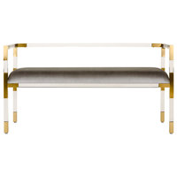Safavieh Anastasia Acrylic Bench, Brass