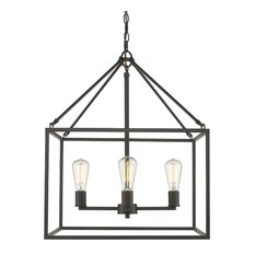 Wesson 4-light chandelier in Rubbed Bronze