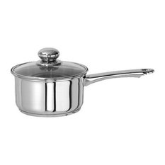 Gourmet Chef 1 Quart Stainless Steel Sauce Pan with Glass Lid